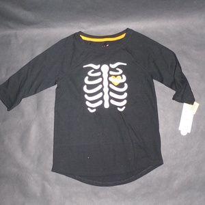 Cat & Jack Glow in the Dark Skeleton Bone Tee